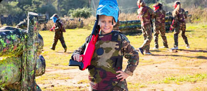 young paintball player
