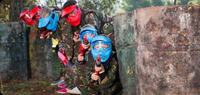paintball young gun players